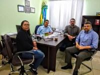 Câmara recebe novo gerente do Banco do Brasil.