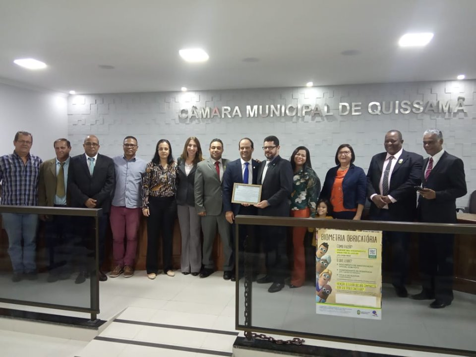 Conselho Regional de Contabilidade do Estado do Rio de Janeiro recebe Moção de Aplausos da Câmara Municipal de Quissamã.