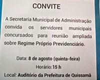 Convite da Secretaria Municipal de Administração