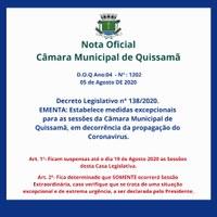 Decreto Legislativo n° 138/2020.