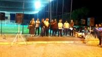INDICAÇÃO DO VEREADOR CALICO LEITE | Quadra de grama sintética, que recebe o nome do saudoso Romário Fernandes, foi inaugurada HOJE no bairro Santa Catarina.