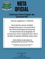 Novo Decreto Legislativo