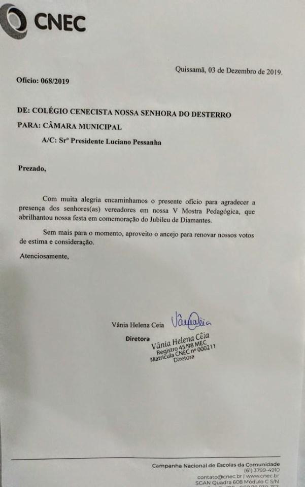 Ofício 068/2019 CNEC