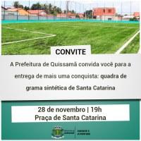 Quadra de grama sintética, que receberá o nome do saudoso Romário Fernandes, será inaugurada HOJE no bairro Santa Catarina.