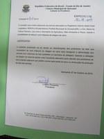 Vereador Luciano Pessanha solicita ao Executivo máquina de silagem da cana para atender produtores rurais.