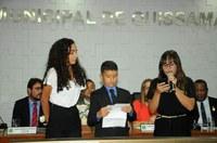 Vereadora Jovem Luna Nascimento se despede do Projeto Câmara Jovem.