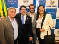 Vereadores Alexandra Moreira e Marcos Silva participam da Posse do Novo Secretário de Agricultura do Estado do Rio.